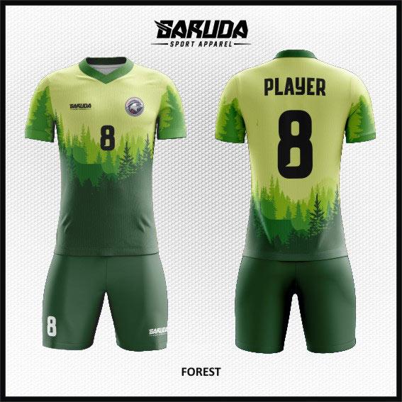 Baju Futsal Custom Desain Gambar Hutan