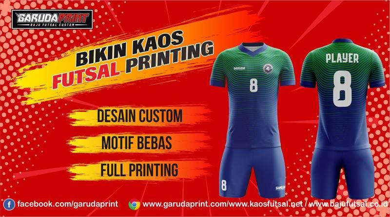 Bikin Baju Futsal Bahan Dryfit Dengan Teknik Sablon Printing Di Garuda Print
