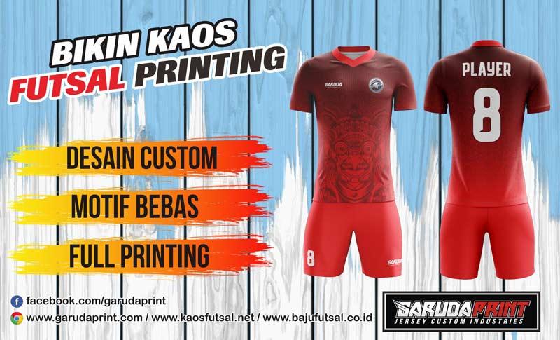 Buat Kostum Futsal Printing