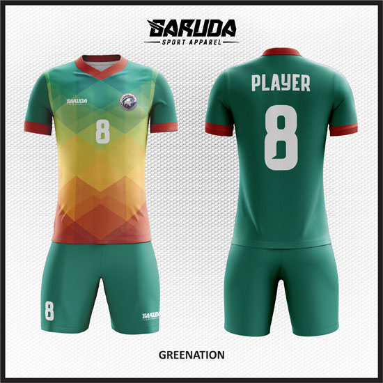 Desain Jersey Futsal yang Bagus warna hijau 2