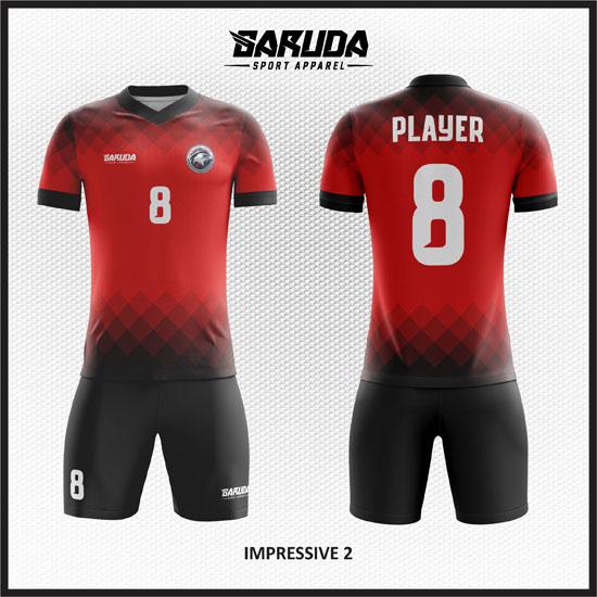 Desain Kaos Futsal Warna Merah 2