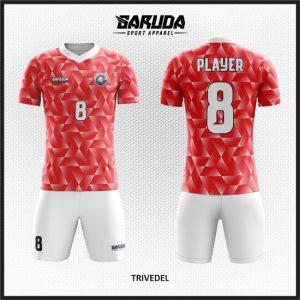 Desain Kaos Futsal Warna Merah Pesan Online