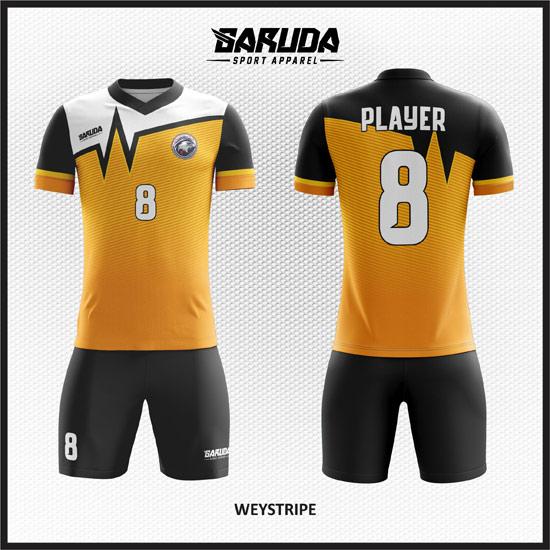 Desain jersey full printing gradasi warna.