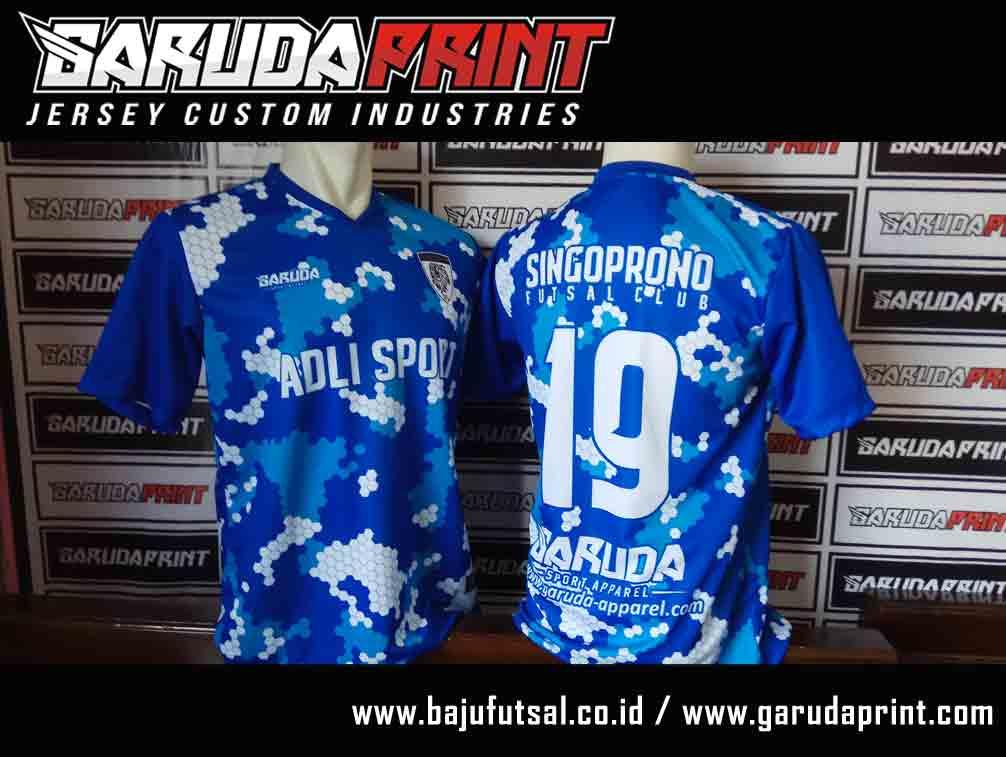 Jasa pembuatan Desain Baju futsal Terbaik full printing