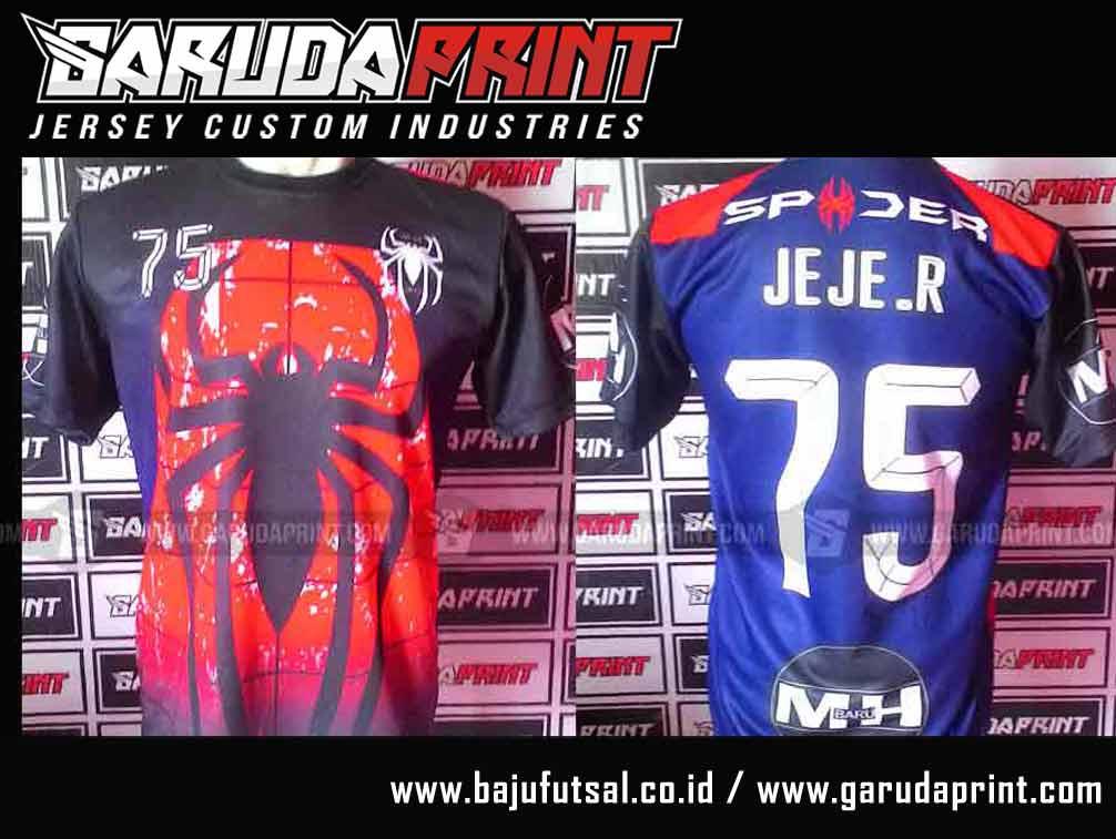 Pembuatan Baju Futsal Dengan Gambar Hewan laba-laba