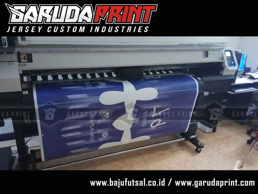 Pembuatan baju futsal printing warna biru 2