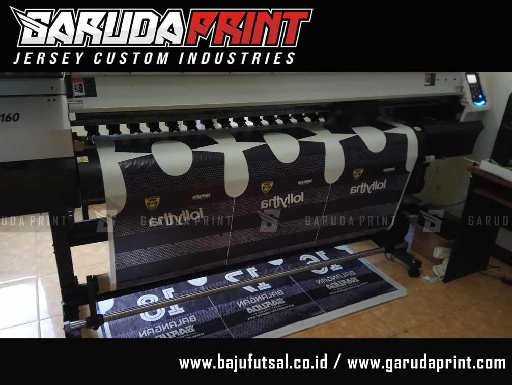 Tempat Buat Desain Jersey Futsal Hitam printing
