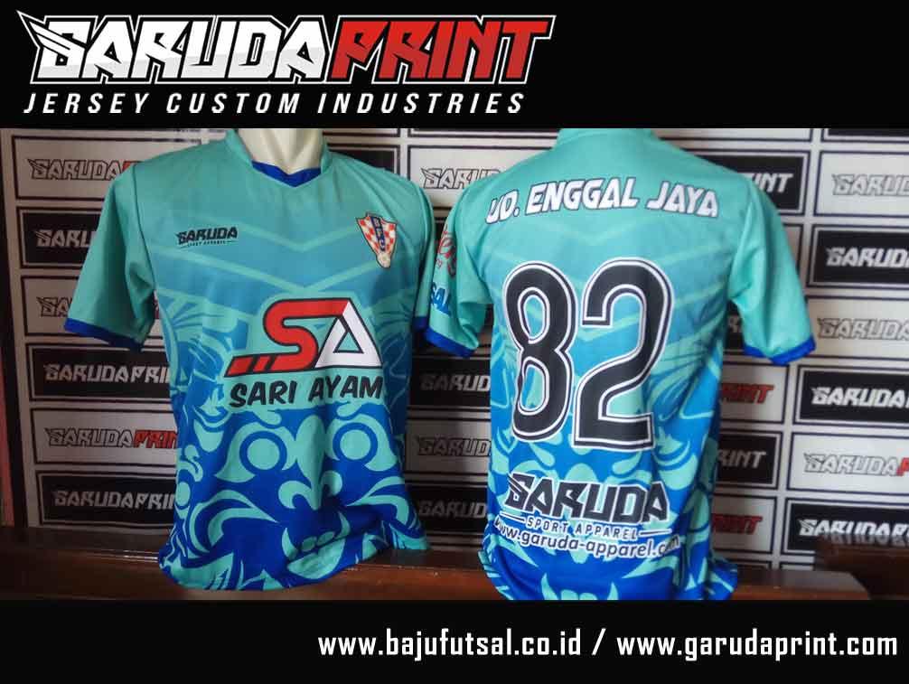 bikin baju futsal custom dengan sponsor