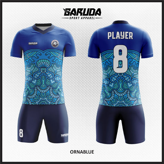 desain baju futsal batik biru