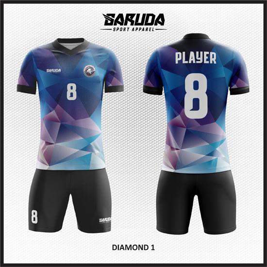 desain baju futsal biru abstract keren