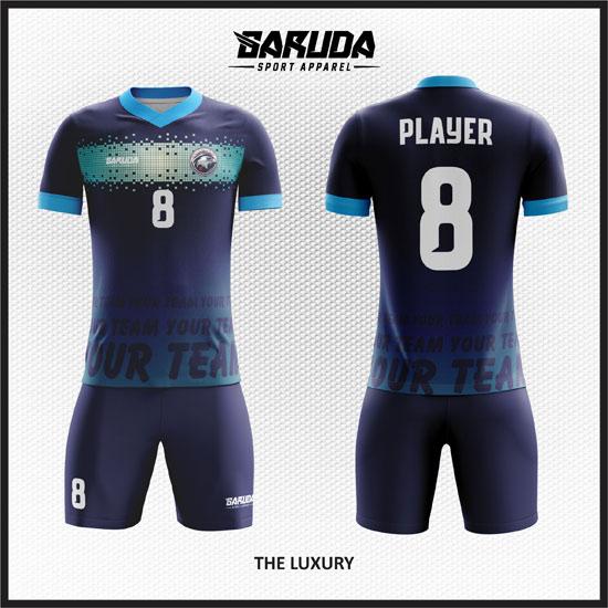 desain baju futsal biru dongker terbaik dan keren