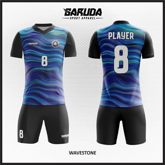 desain baju futsal biru gradasi terbaik