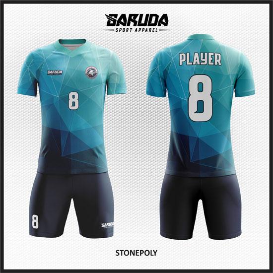 desain baju futsal biru muda terbaik
