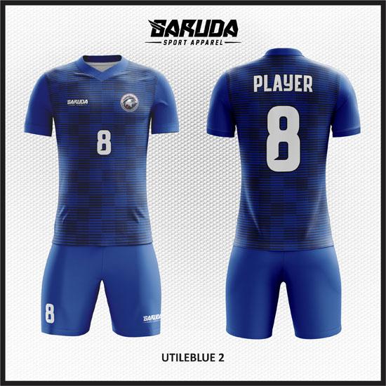 desain baju futsal biru terbaik dan keren