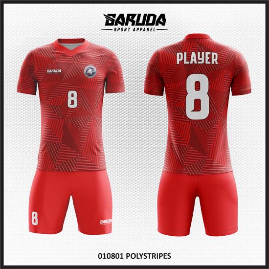 desain baju futsal full printing warna merah