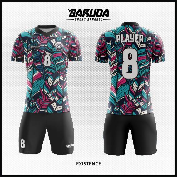 desain baju futsal gambar daun keren terbaru