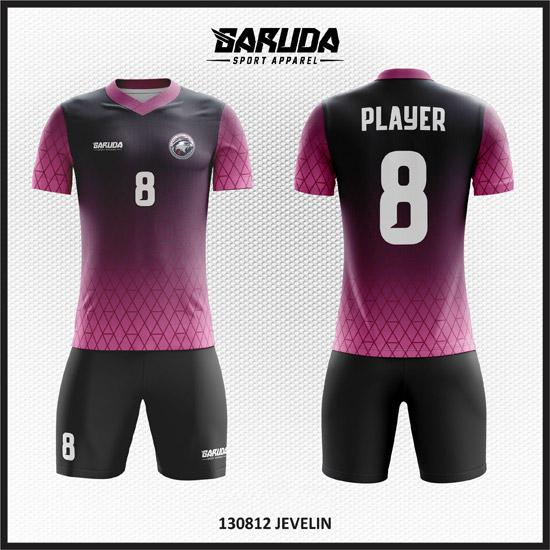 desain baju futsal gradasi hitam