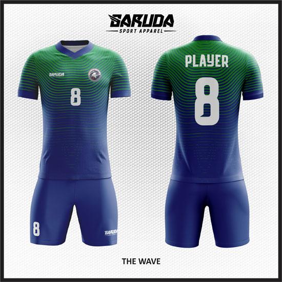 desain baju futsal hijau biru