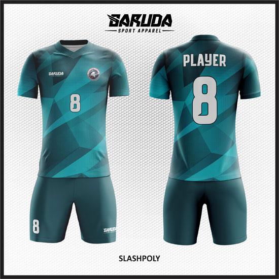 desain baju futsal hijau tosca