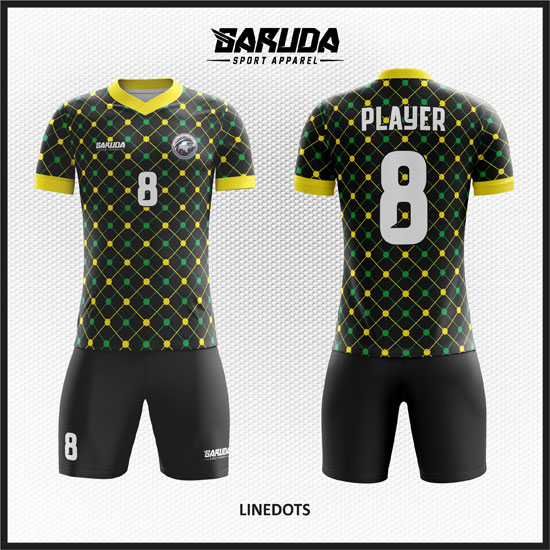 desain baju futsal hitam klasik