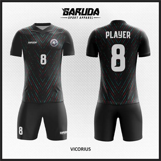 desain baju futsal hitam printing