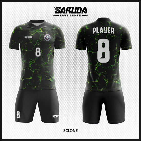 desain baju futsal hitam terbaik dan keren