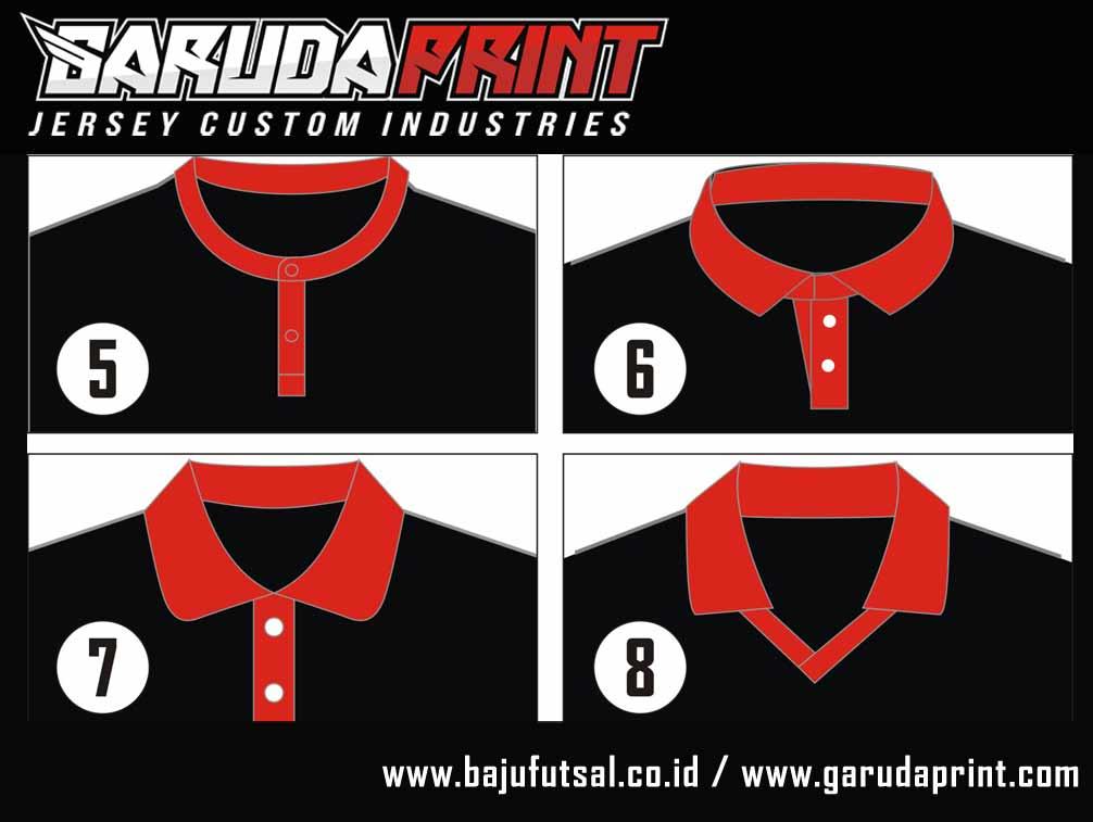 desain baju futsal kerah