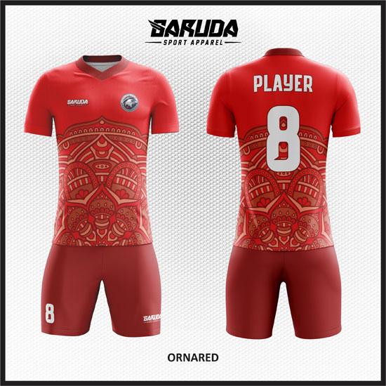 desain baju futsal keren batik merah