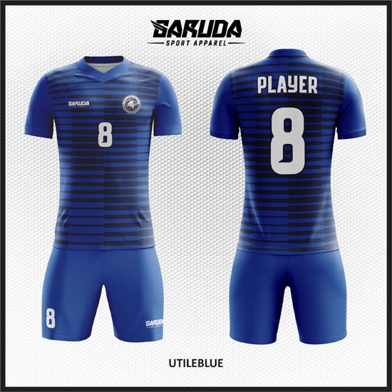 desain baju futsal keren biru kombinasi