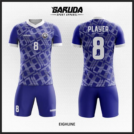 desain baju futsal keren biru putih