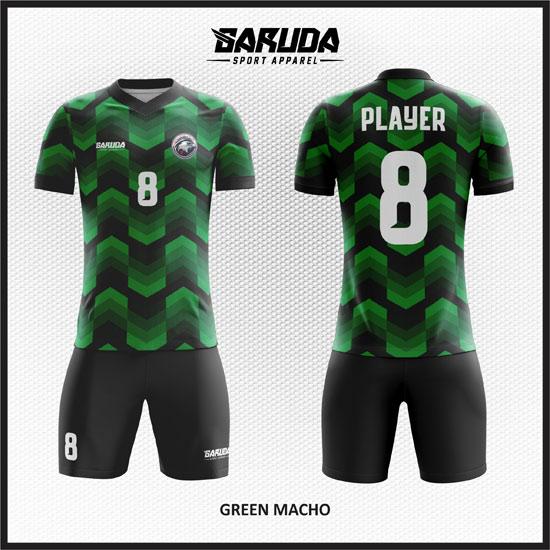 desain baju futsal keren hijau hitam