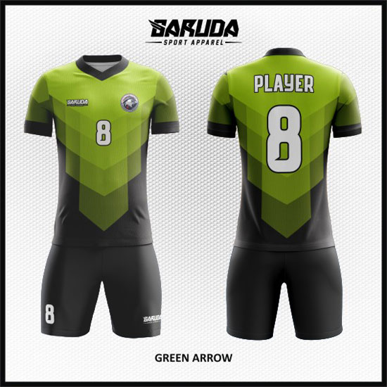 desain baju futsal keren hijau muda