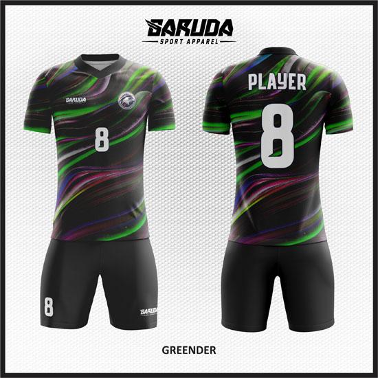 desain baju futsal keren hitam gradasi