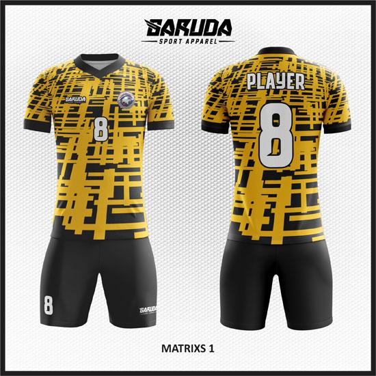 desain baju futsal keren hitam hitam