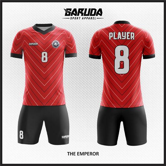 desain baju futsal merah terbaik dan keren