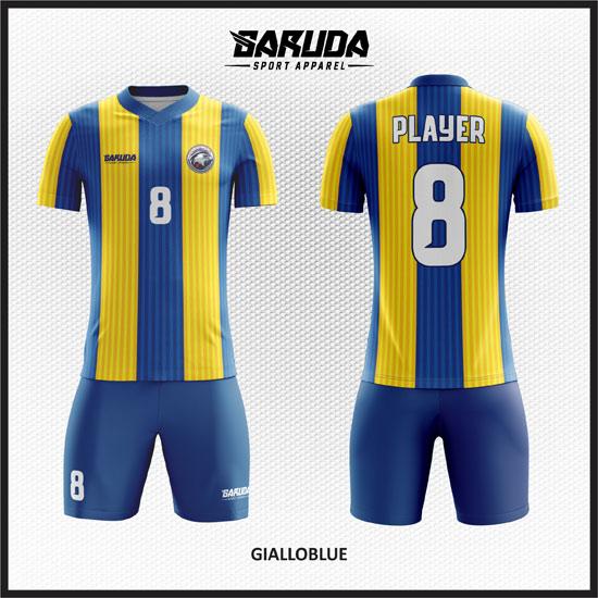 desain baju futsal printing kuning biru