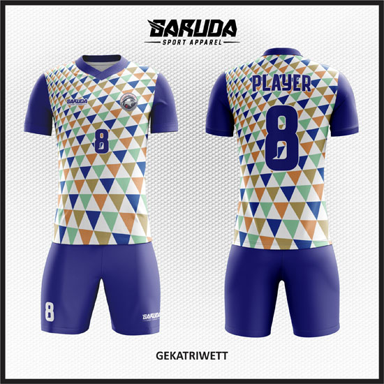 desain baju futsal printing terbaru putih biru