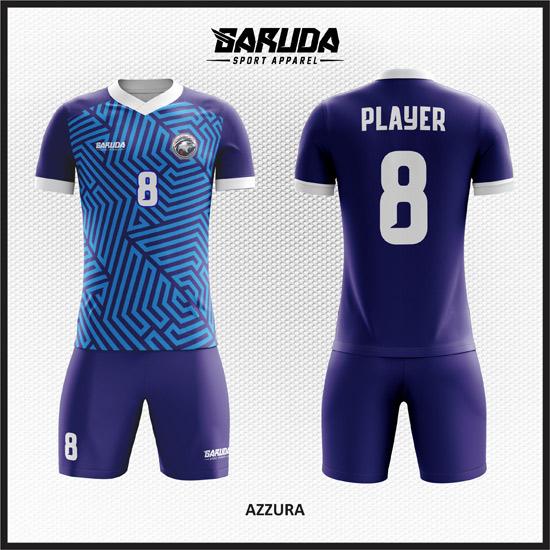 desain baju futsal printing terbaru warna biru tua dan biru muda