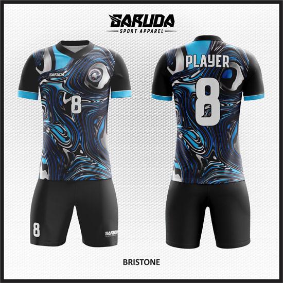 desain baju futsal printing terbaru warna biru unik