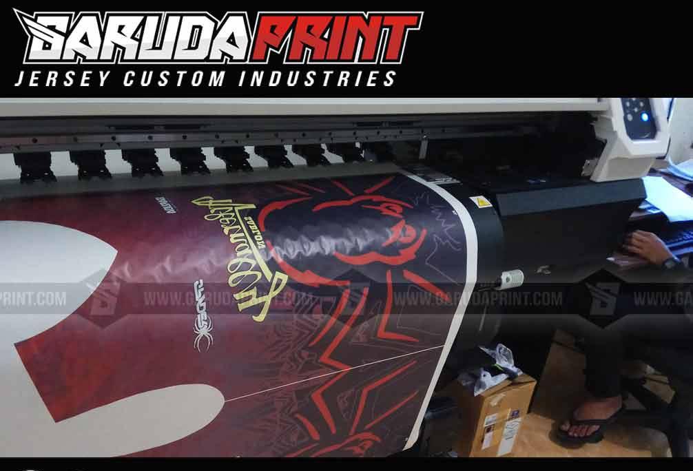 pembuatan Desain Kaos Olahraga Futsal printing
