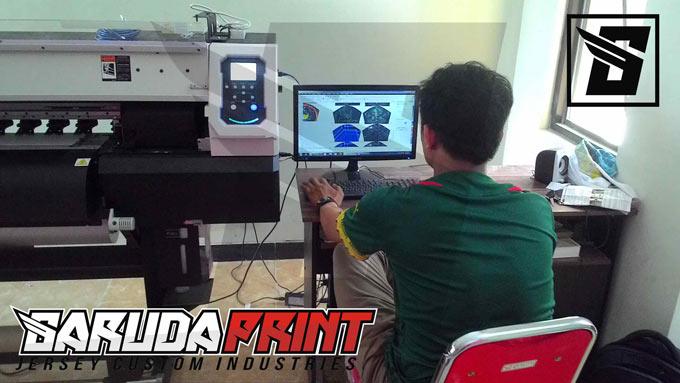 proses bikin baju bola printing