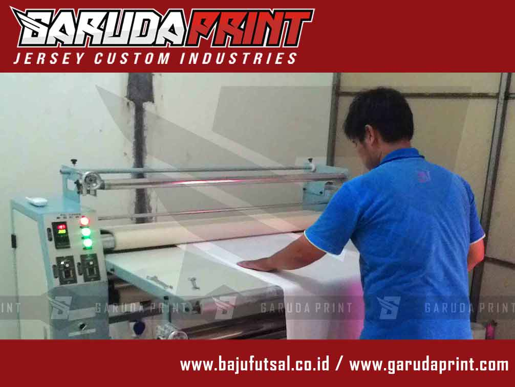 proses press bikin baju futsal printing