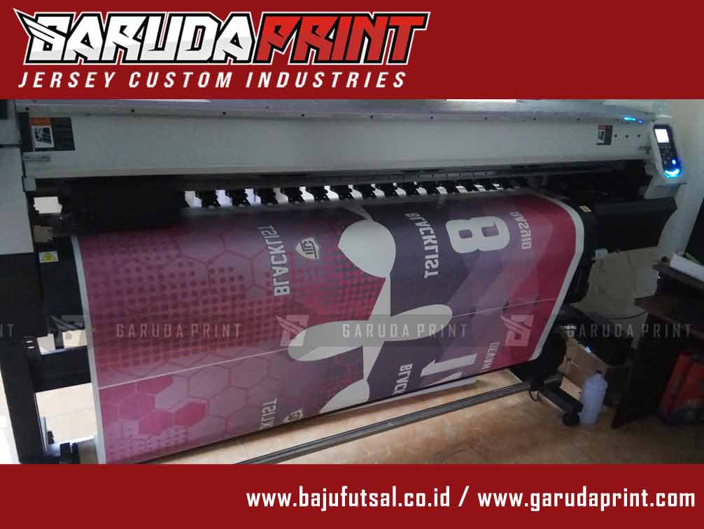proses print bikin baju futsal printing