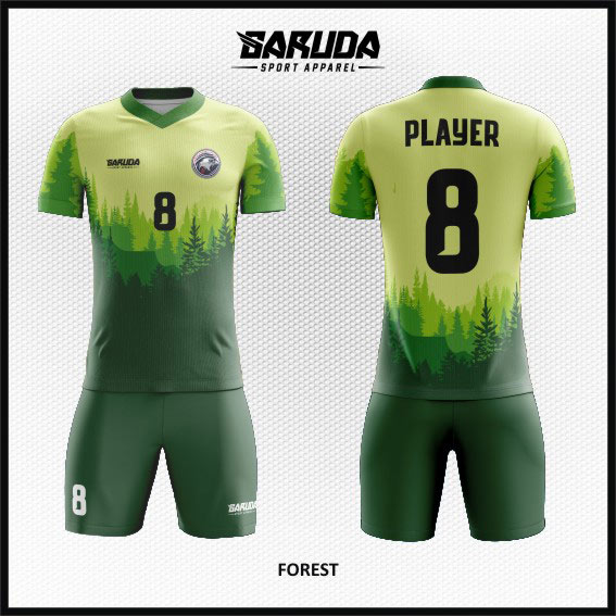 Baju Futsal Custom Desain motif alam