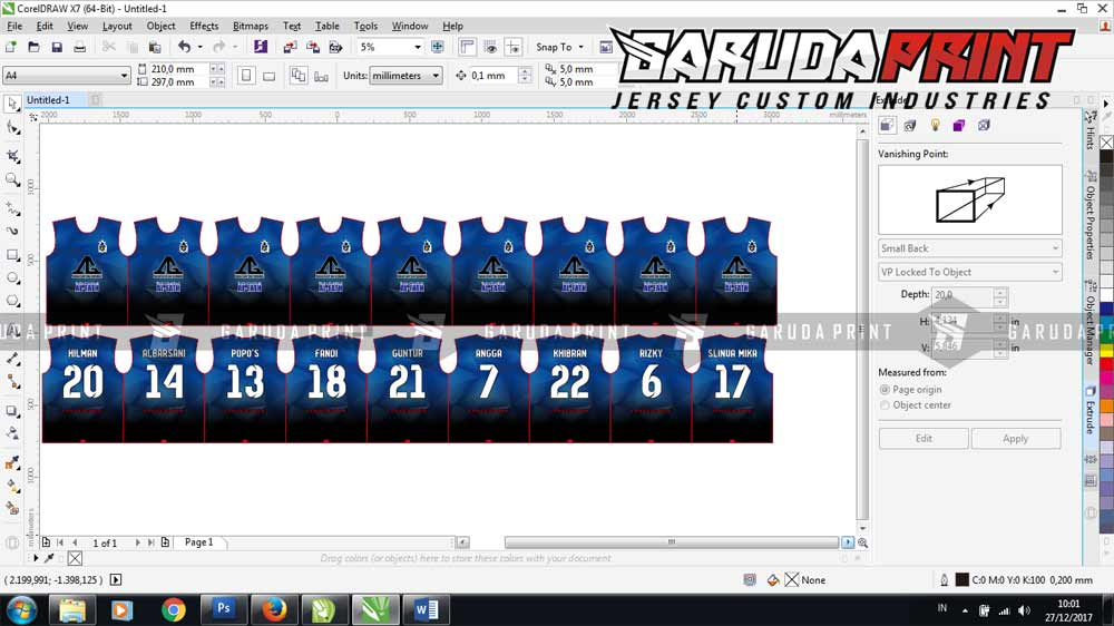 Bikin Baju Futsal printing online custom