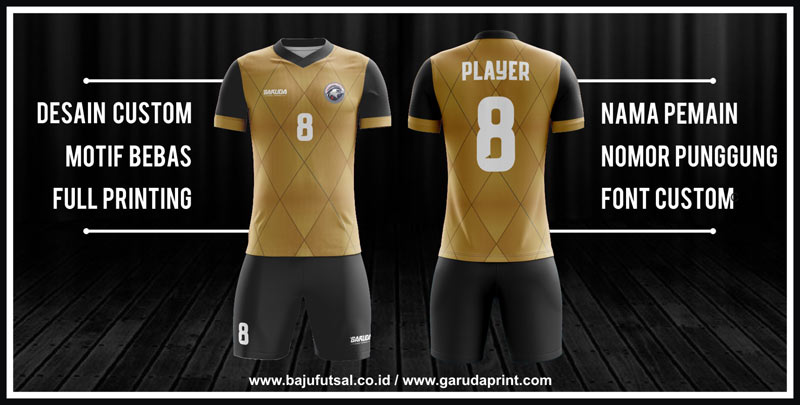 Bikin Jersey Futsal Printing desain sendiri