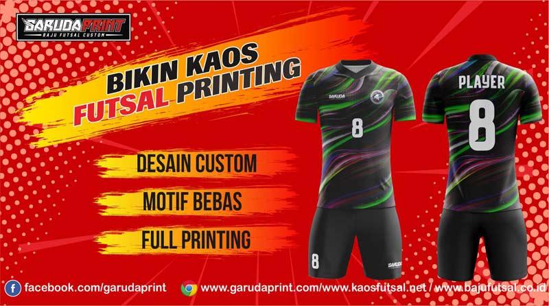 Bikin Kaos Futsal Printing dengan desain yang keren