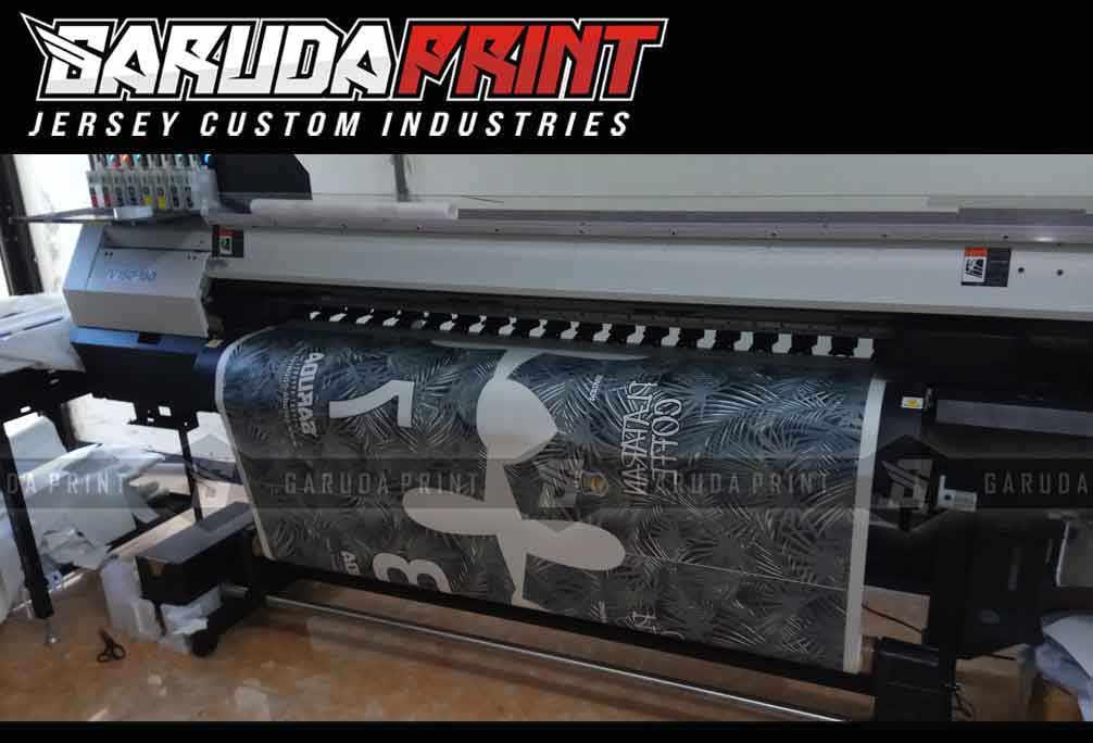 Proses pembuatan baju sepak bola printing di Garuda Print