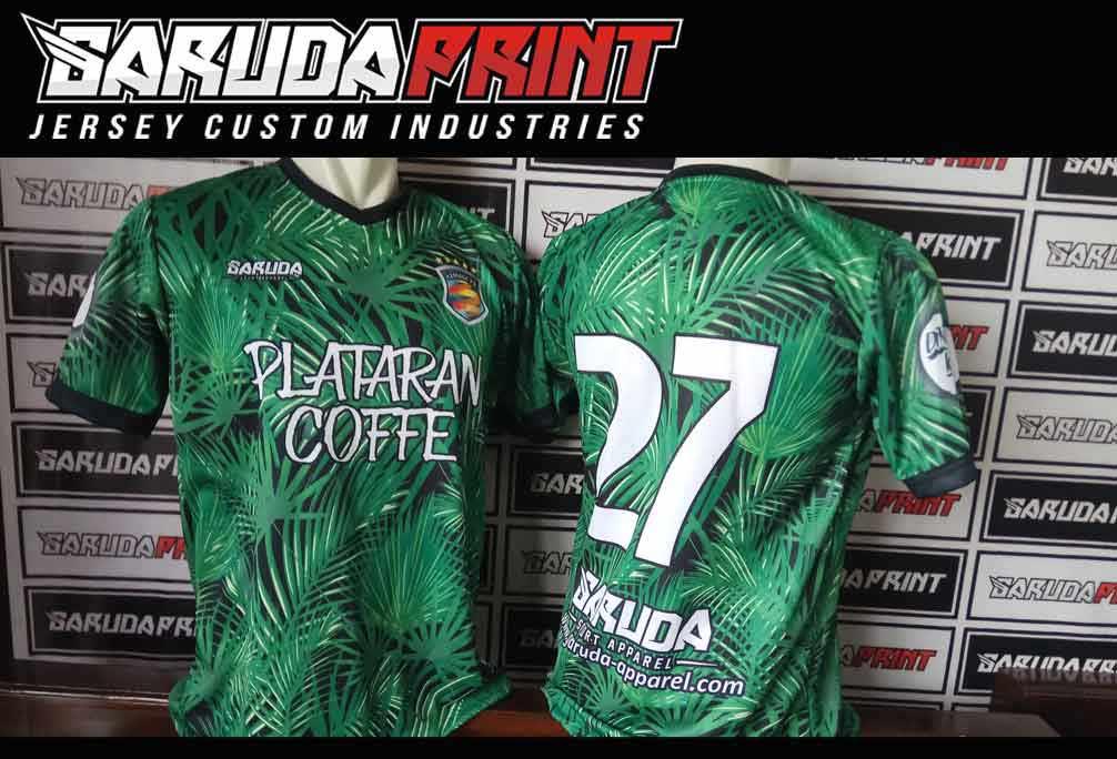 Proses pembuatan baju sepak bola printing