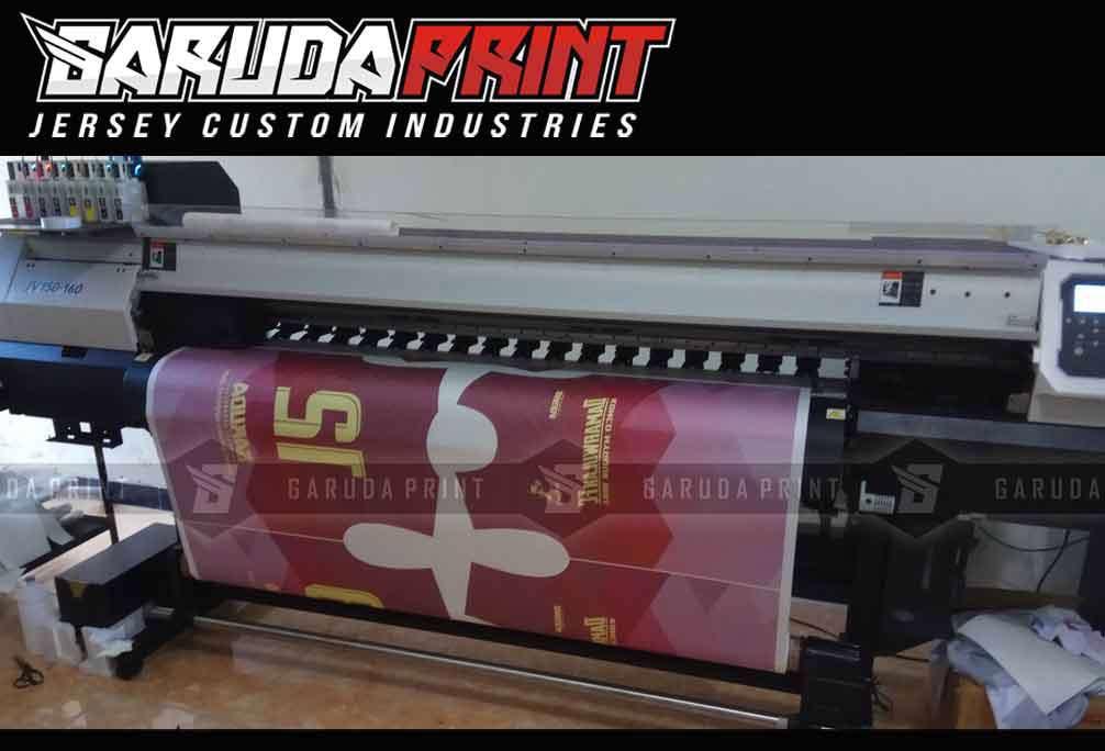 printing sublimasi pada baju futsal.
